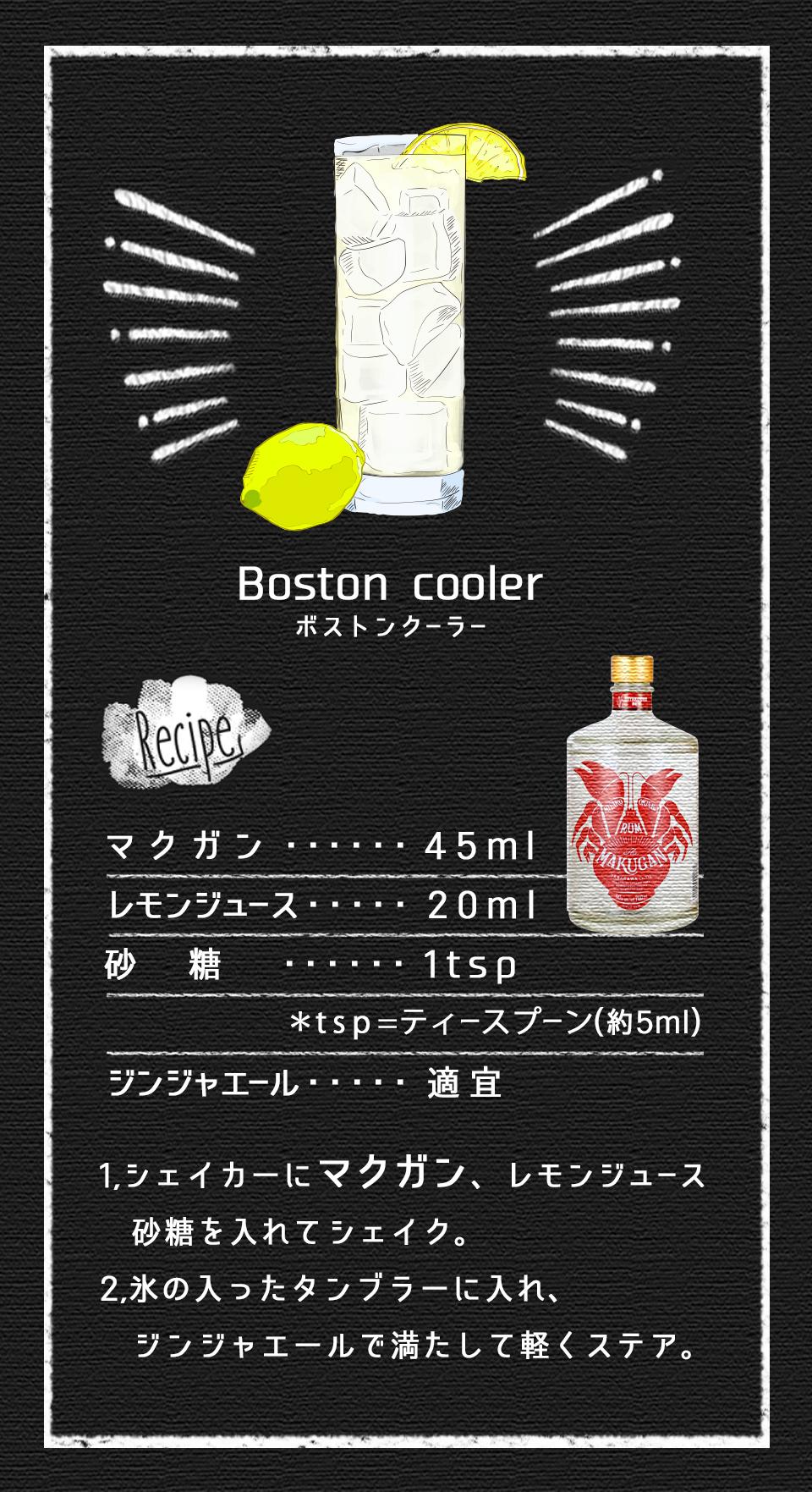 レシピ・ボストンクーラー