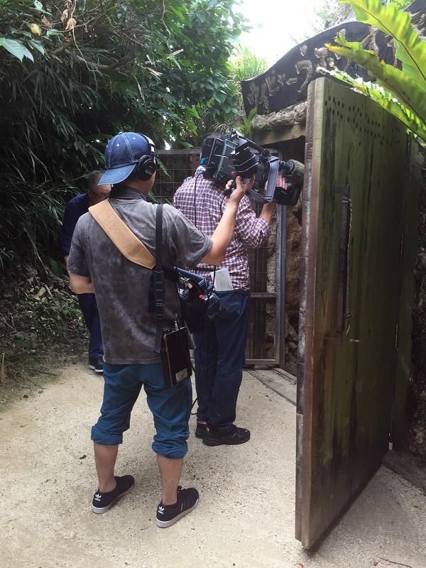 長野テレビ撮影_洞窟貯蔵庫入口